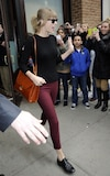 Taylor Swift à la sortie de son hotel de Manhattan