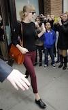 Taylor Swift à la sortie de son hotel de Manhattan