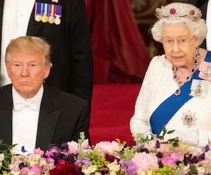 Donald Trump s'endormait devant la Reine