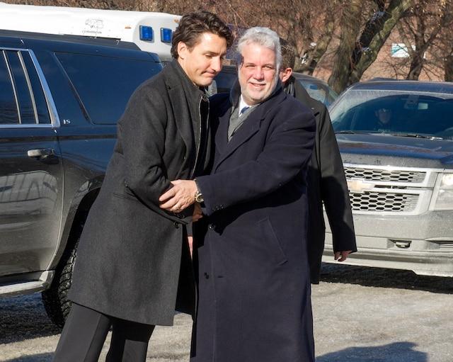Le premier ministre Justin Trudeau et premier ministre du Québec, Philippe Couillard.