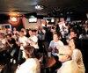Laurie Blouin a pu compter sur des fans enthousiastes et bruyants pour l'encourager, dimanche soir, alors qu'ils étaient près d'une centaine à s'être réunis dans un bar de Québec.