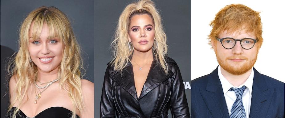 Miley Cyrus, Khloe Kardashian et Ed Sheeran