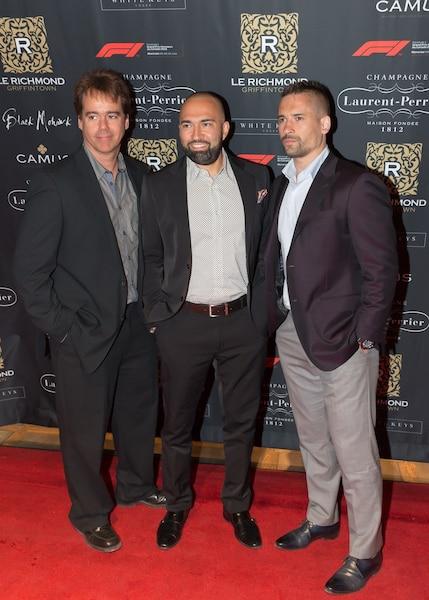 Tomas Plekanec (à droite) s'est offert une soirée entre amis au Richmond.