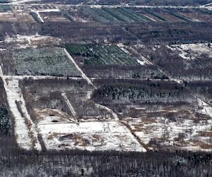 Des matières toxiques fuyaient de ce terrain à Bécancour.