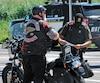 Quelque 500membres et supporteurs des Hells Angels rassemblés en Montérégie, la fin de semaine dernière, ont dû montrer patte blanche aux nombreux policiers qu'ils ont croisés.