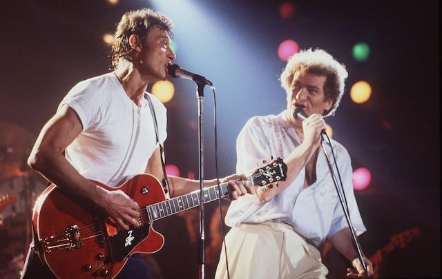 Eddy Mitchell et Johnny Hallyday.