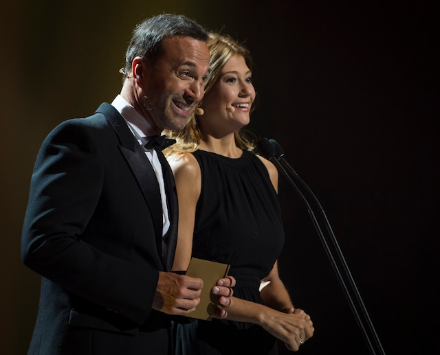 Joël Legendre et Katherine Levac.