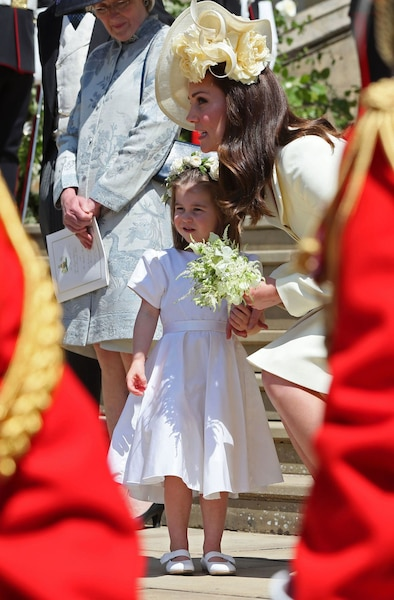 La princesse Charlotte et sa mère, la duchess of Cambridge.