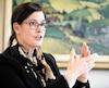La rectrice de l'Université Laval, Sophie D'Amours, ici en entrevue avec Le Journal concernant le lancement de son nouveau plan stratégique en mars dernier, affirme que l'Université souhaite attirer les meilleurs étudiants étrangers, d'où la possibilité d'offrir éventuellement plus de cours en anglais.