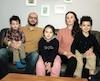 Lina Azzoug en compagnie de son conjoint Aguelid Alem et leurs trois enfants, Kamil, Dhalia et Massyl.
