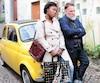 Rachel Mwanza et Bouli Lanners dans la comédie <i>Troisièmes noces</i>.