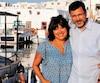 Denis Lévesques et sa compagne, Pascale Wilhelmy, sur l'île de Tinos en Grèce.