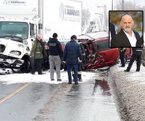 La victime est Michel Pilote (en mortaise), 53 ans, a révélé la Sûreté du Québec (SQ) vendredi.
