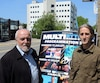 Le maire de Saint-Félicien, Gilles Potvin, aux côtés du promoteur du nouveau Festival Multi-Rythmes, Luc Hamel.