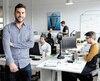 Mathieu Plante, cofondateur de B2B Quotes, une entreprise technologique, dans ses bureaux.