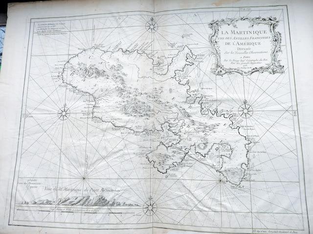 Carte de la Martinique, datée de 1753.