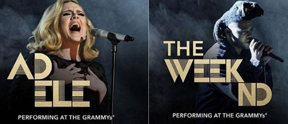 Image principale de l'article Grammy Awards 2016 : Adele et The Weeknd seront sur scène