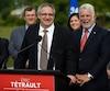 «Je me suis retrouvé à la mauvaise place à un mauvais moment, c'est tout», a résumé le candidat libéral dans Louis-Hébert, Éric Tétrault.