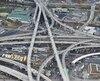 Image de l'échangeur Turcot et de l'autoroute 720.