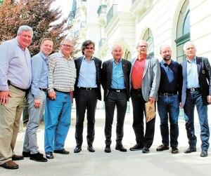 Le président de l'Assemblée nationale Jacques Chagnon et les députés Raymond Bernier, Michel Matte et Mathieu Traversy ont profité de leur mission en France pour faire un saut à Chamonix (photo).