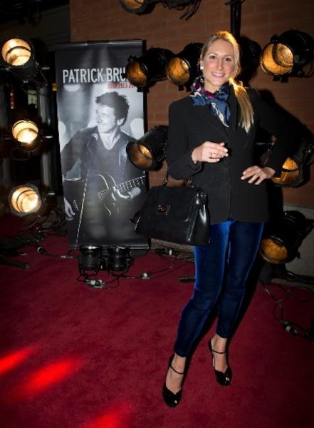 Mahée Paiement lors du tapis rouge avant le spectacle du chanteur Patrick Bruel au Centre Bell de Montréal.