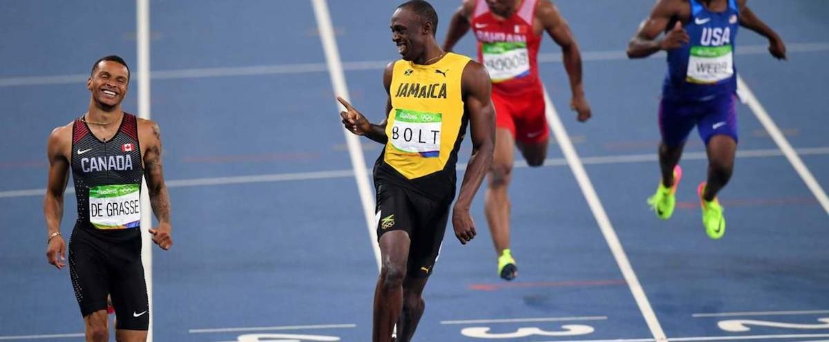 """Résultat de recherche d'images pour """"Usain Bolt vs Andre De Grasse"""""""