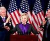 Hillary Clinton a eu du mal à commencer son discours, les partisans ne cessant de l'applaudir pendant de longues minutes.