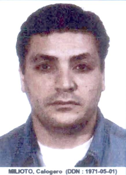 Calogero Milioto<br> Condamné à 9 ans