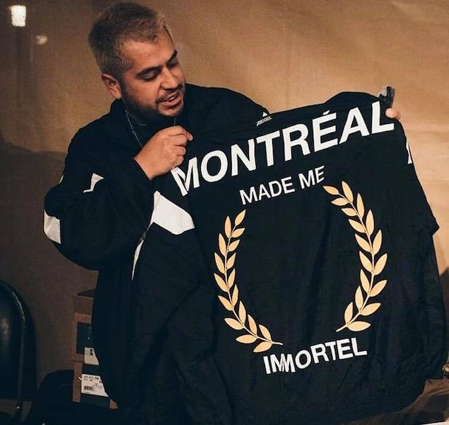 Carlos avec le jacket officiel de Loud