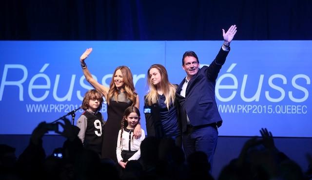 Lors du lancement de sa campagne à la direction du PQ.
