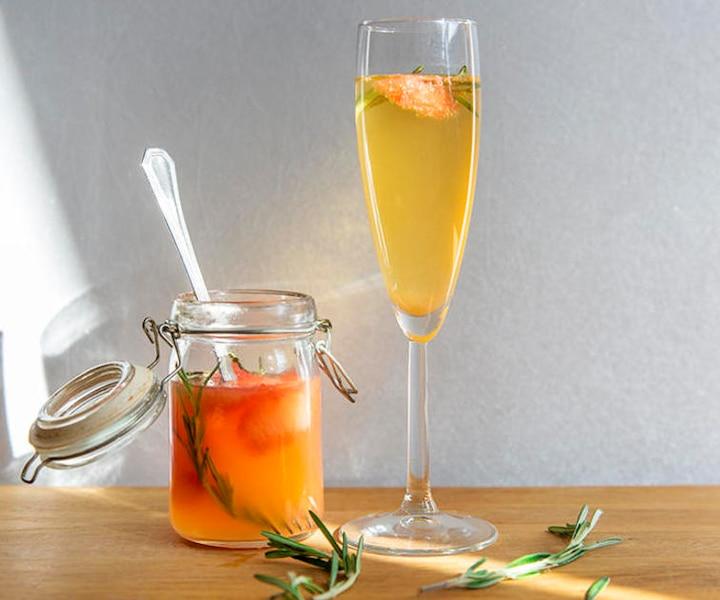Cocktail soleil au vin mousseux