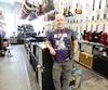 René Mongrain travaille depuis 18 ans au mythique magasin de musique Steve's.