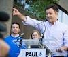 Lancement officiel de la campagne à la chefferie du Parti Québécois de Paul St-Pierre Plamondon devant les bureaux du Parti Québécois, à Montréal, en ce dimanche 26 juin 2016. Sur la photo: Paul St-Pierre Plamondon TOMA ICZKOVITS/AGENCE QMI