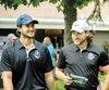 Phillip Danault et Jonathan Drouin ont labouré les links du club de golf de Victoriaville, jeudi.