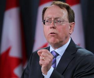 NDP MP Murray Rankin speaks to the media in Ottawa