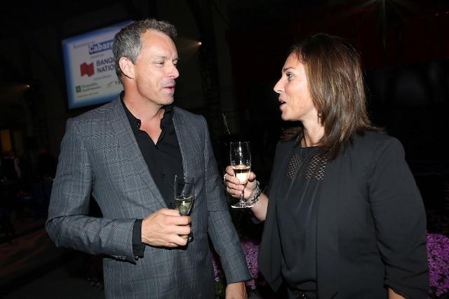 François Lambert des Dragons et Conchita Gonzalez à la Soirée-bal pour l'Association des enfants handicapés.