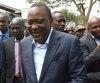 Uhuru Kenyatta, président sortant du Kenya.