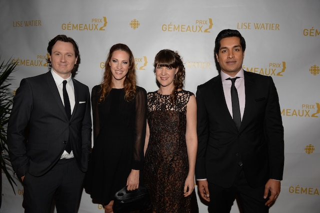 Simon-Oliver Fecteau, India Desjardins, Gina Desjardins et Suger Sammy.