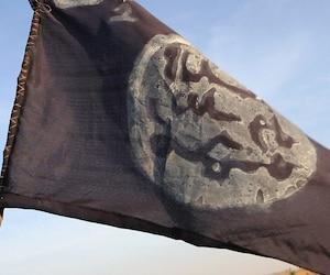 Un drapeau de Boko Haram