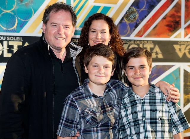 Paul Doucet et Marie-Claude Sabourin ont effectué une sortie en famille avec leurs fils Gabriel et Jeremy.