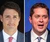 Justin Trudeau et Andrew Scheer