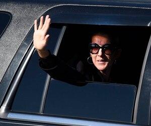 Céline Dion lors de son arrivée mercredi à 15h30 au Centre Vidéotron.