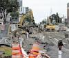 La Ville de Québec a refusé une indemnisation aux commerçants affectés par les travaux sur la route de l'Église. Le vice-président du comité exécutif, Rémy Normand (en mortaise), assure toutefois qu'un programme normé pour le futur chantier du tramway sera mis en place