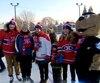Mercredi, les joueurs du Canadien ont procédé à l'inauguration de la neuvième patinoire extérieure de la Fondation des Canadiens pour l'enfance.