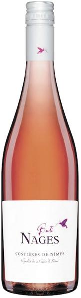 Buti Nages vin rosé France, 13,8% 108 calories 2g de sucre résiduel par litre