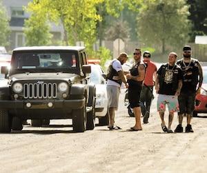Les motards étaient identifiés à leur arrivée sur place par les nombreux policiers présents autour du Beachclub.