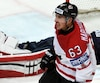 Brad Marchand s'est fort bien tiré d'affaire au dernier Championnat du monde de hockey, marquant notamment quatre buts, dont un contre les États-Unis en demi-finale.