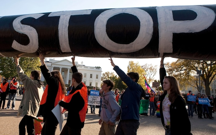 Manifestation devant la Maison-Blanche
