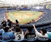 Les amateurs de baseball ne se bousculent pas dans les tourniquets au Tropicana Field pour assister aux matchs locaux des Rays.