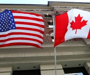 Bloc drapeau drapeaux canada états-unis usa